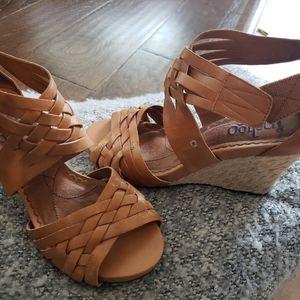 Ladies wedged heel  sandal.